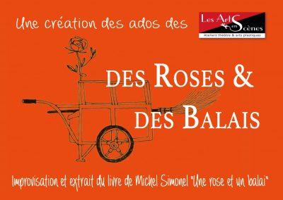 """Flyer """"Des Roses & des Balais - recto"""